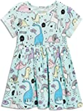 Amazon Price History for:Little Girls Cotton Casual Cartoon Print Short Sleeve Skirt Dresses