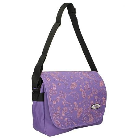 0398df709732 Jeep Ladies Girls Purple Floral Print School Laptop Computer Notebook  Messenger Courier Bag  Amazon.co.uk  Kitchen   Home