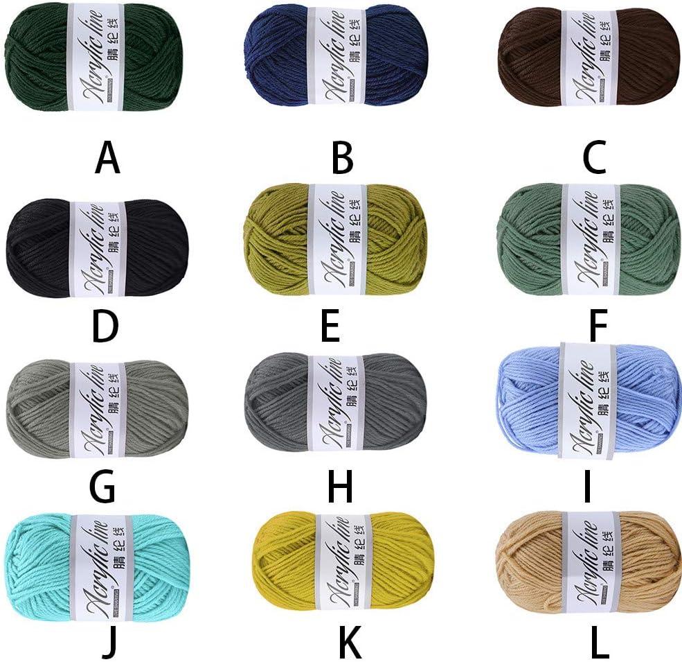 A 12 Farben FeiliandaJJ 50g Wolle Zum Stricken /& H/äkeln,Acrylwolle Baumwolle Einfarbig Super weich Hand Strickgarn Strickwolle f/ür Warme H/üte Pullover Schal Decke Strickprojekt