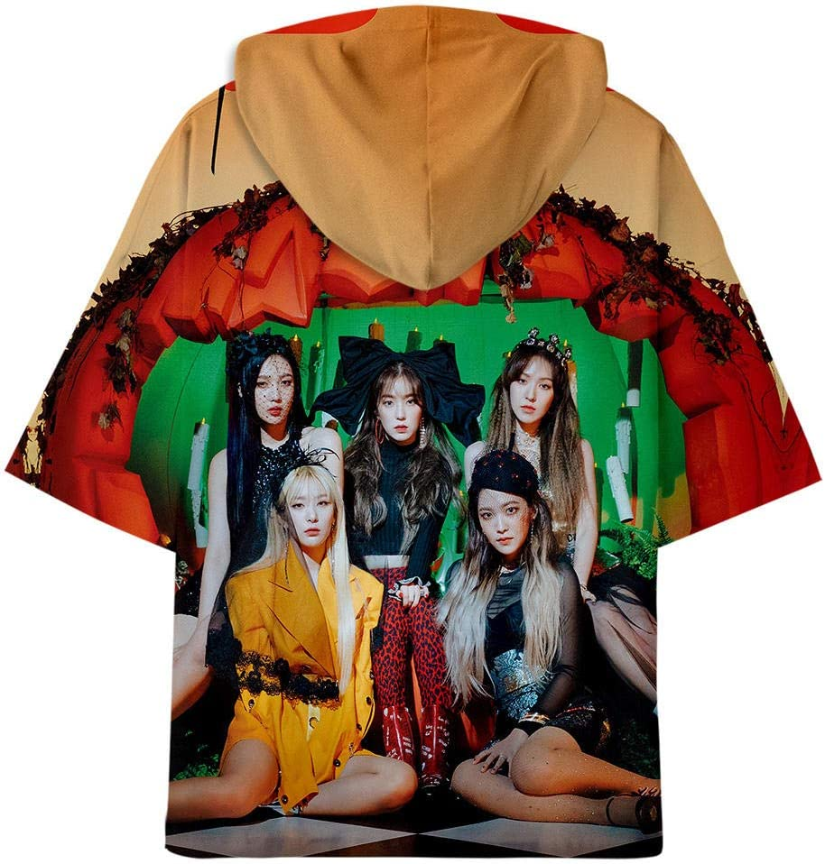 TJJF Neue 3D übergroße Hoodie Männer Mode T-Shirts Mädchen Anime Kurzarm T-Shirt mit Hut drucken Baumwolle Cartoon Frauen T-Shirt M