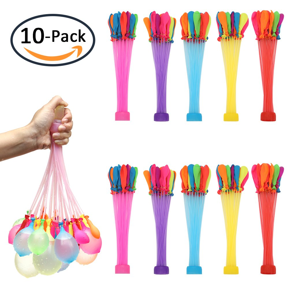 HHNMVCX Water Balloons Bunch for Kids Girls Boys Balloons Set Party Games Quick Fill Water Balloons (370 Pack) Swimming Pool Outdoor Summer Fun …