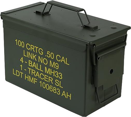HMF 70011 Caja de Munición, US Ammo Box, Caja de Metal, 30 x 19 x ...