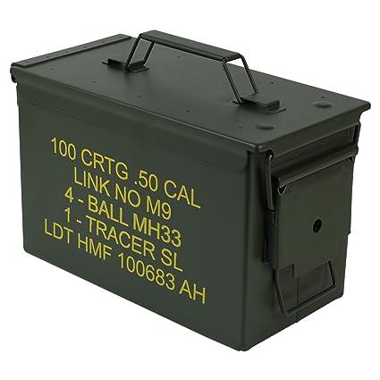 HMF 70011 Caja de Munición, US Ammo Box, Caja de Metal, 30 x