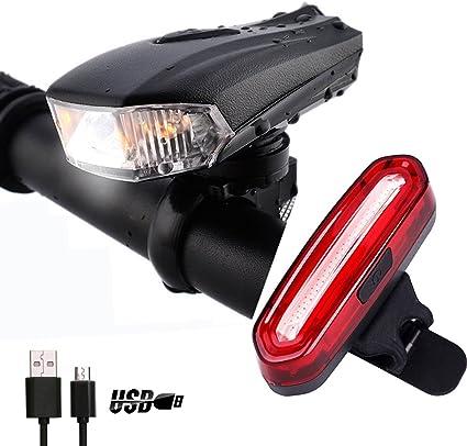 Conjunto de Luces de Bicicleta, NewZexi USB Recargable LED ...