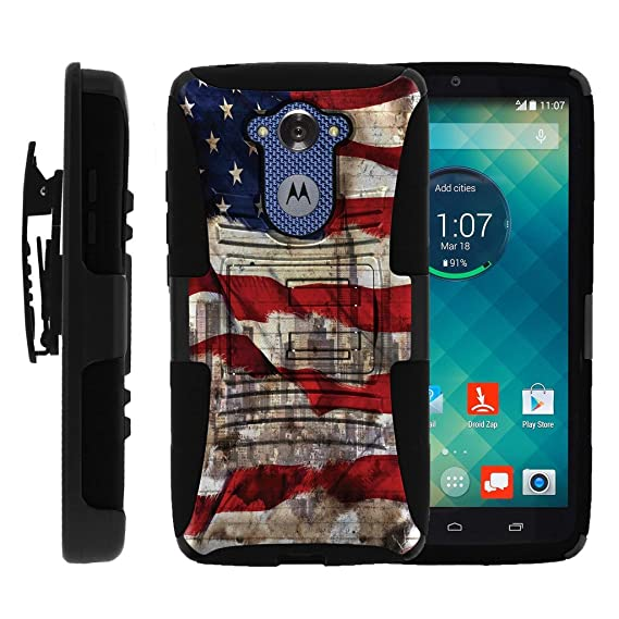 MINITURTLE Case Compatible w/ Motorola Droid Turbo / Moto Maxx Case| Droid  Turbo Clip case[Clip Armor] 2 Layer Hard Case Exterior Shock Resistant