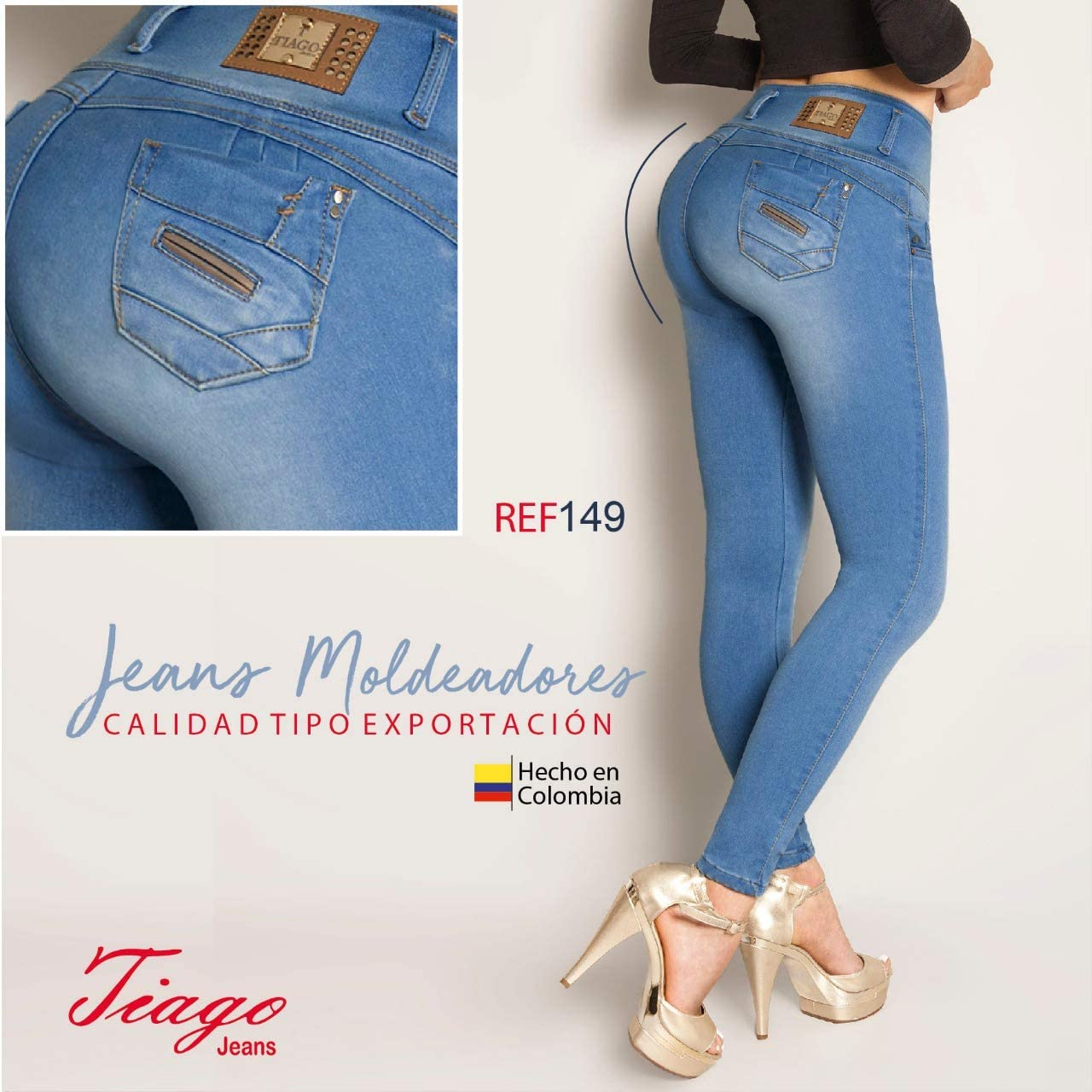 Amazon Com Made In Colombia Boutique Tiago Jeans 100 Colombianos Push Up Jeans Ref 1205 16 Col 11 Usa Clothing