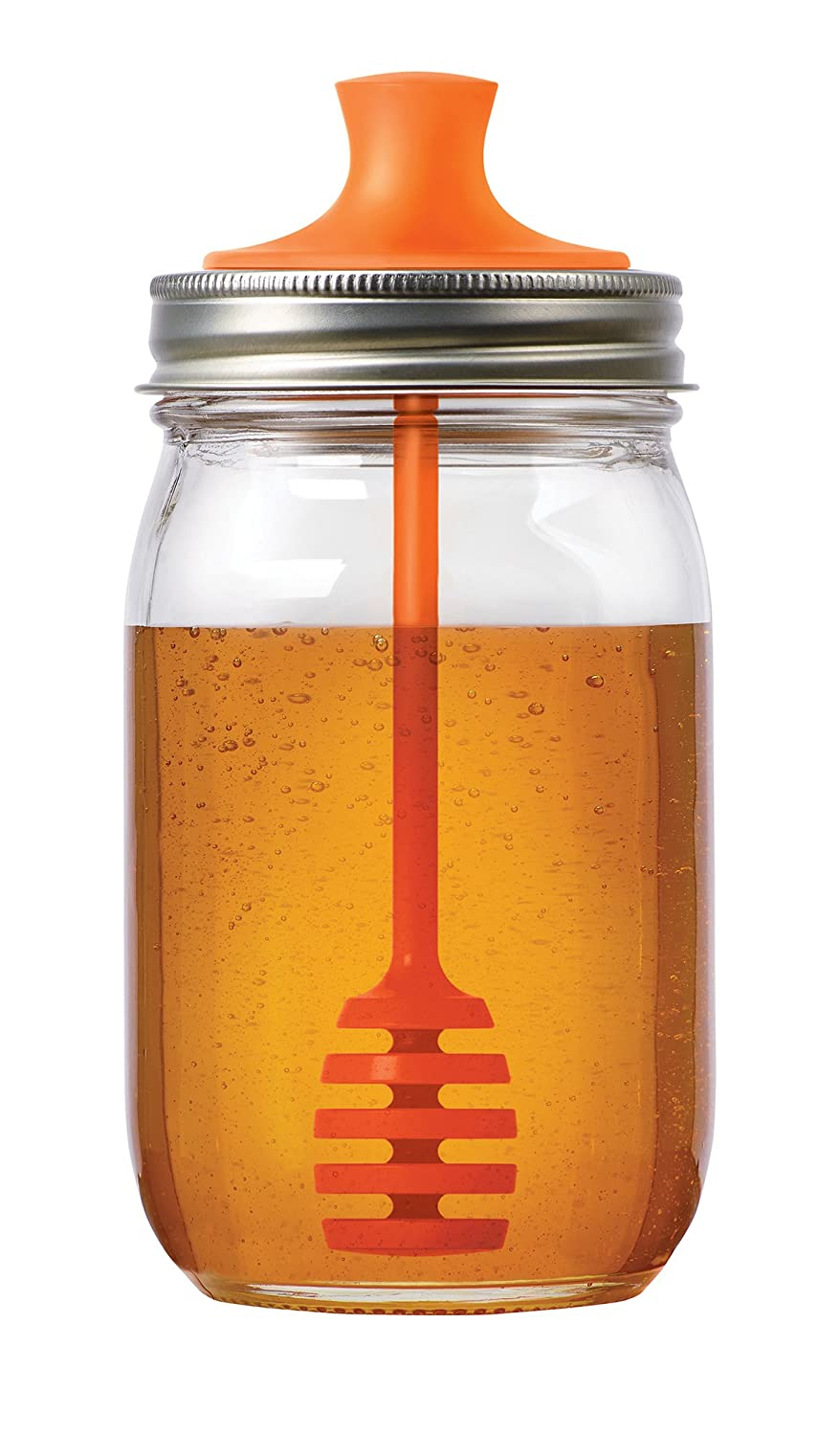 Lunarland Jarware Honey Dipper Fits Regular Mouth Mason Ball Canning Jars Lids Drizzle by Lunarland Home Kitchen