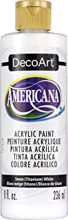 product image for DecoArt DAO1-9 DA01-9 Americana Acrylics, 8-Ounce, Snow, Titanium White