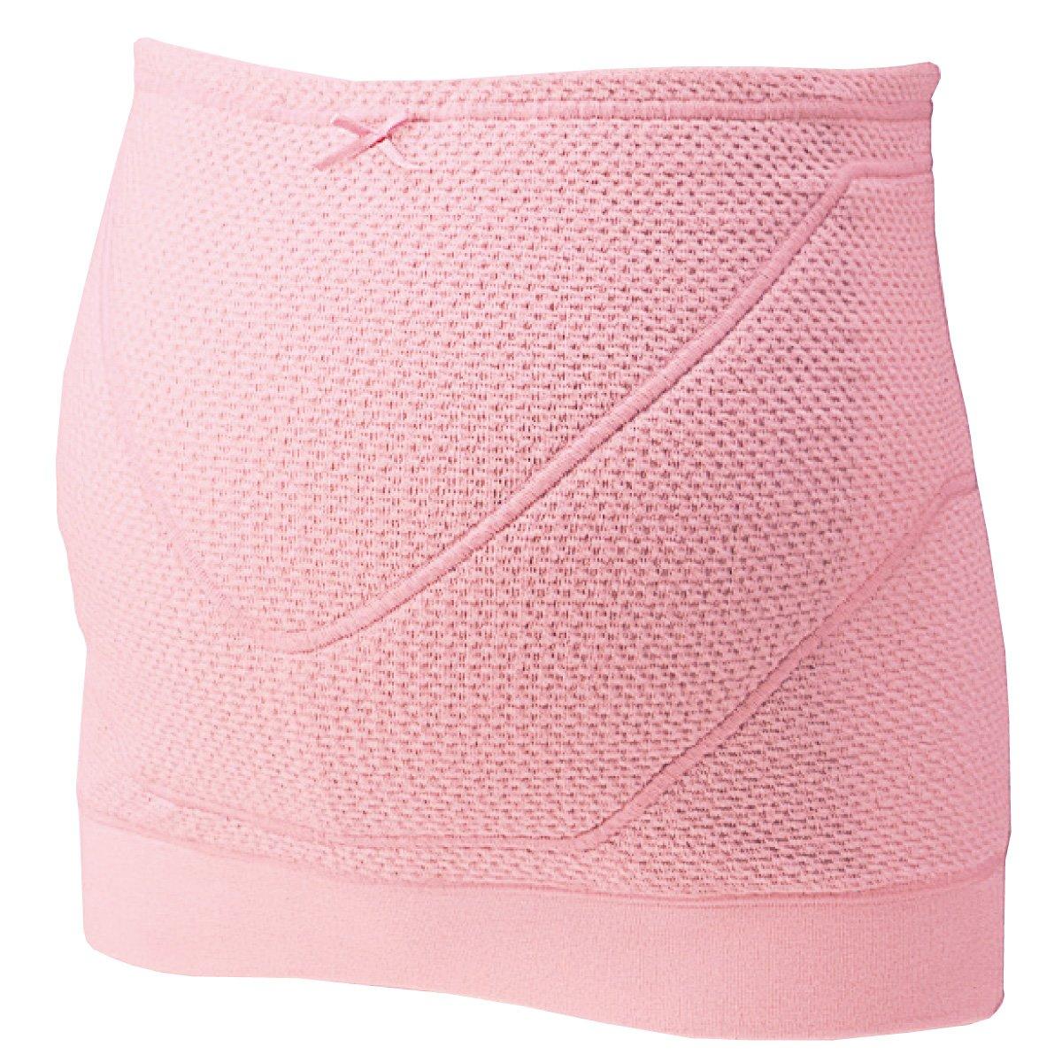 FUN fun Women's Inujirushi Honpo Maternity Pregnancy Belt Belly Band Cotton Electromagnetic Wave Shield Type M Pink