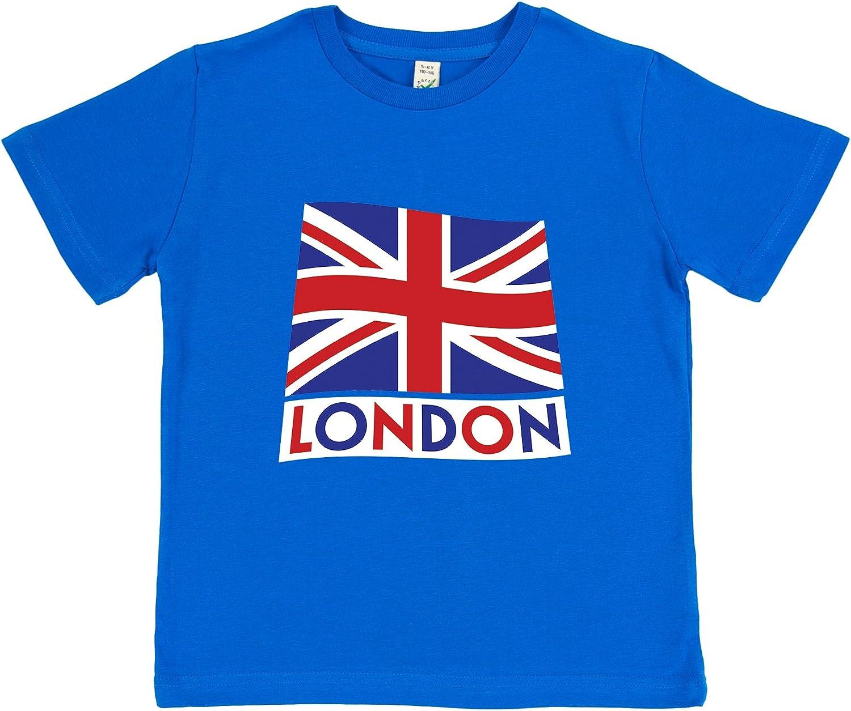 Organic Cotton Clumsy Hooves Boys London T-Shirt Blue