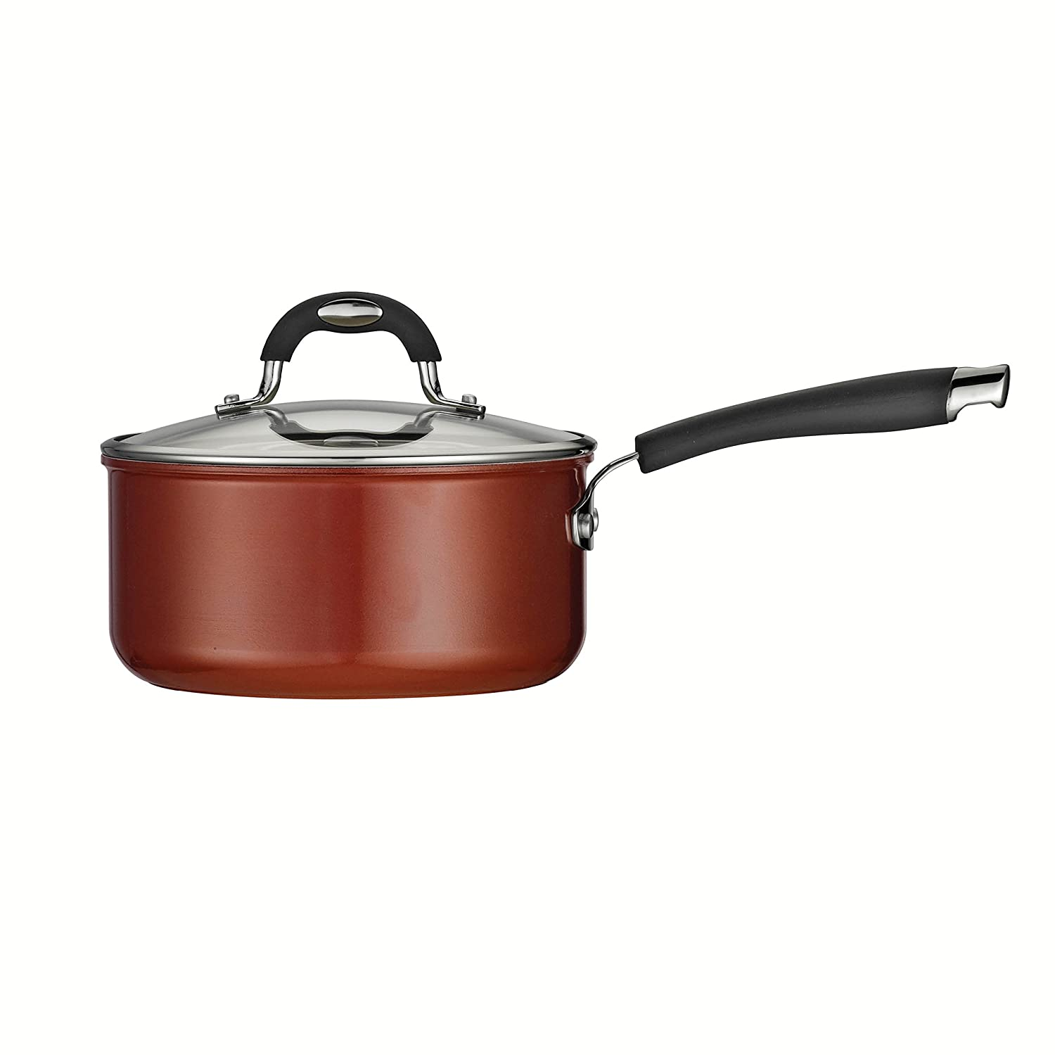 Tramontina 80110/049DS Style Ceramica 01 Covered Sauce Pan, 3-Quart, Metallic Copper by Tramontina: Amazon.es: Hogar