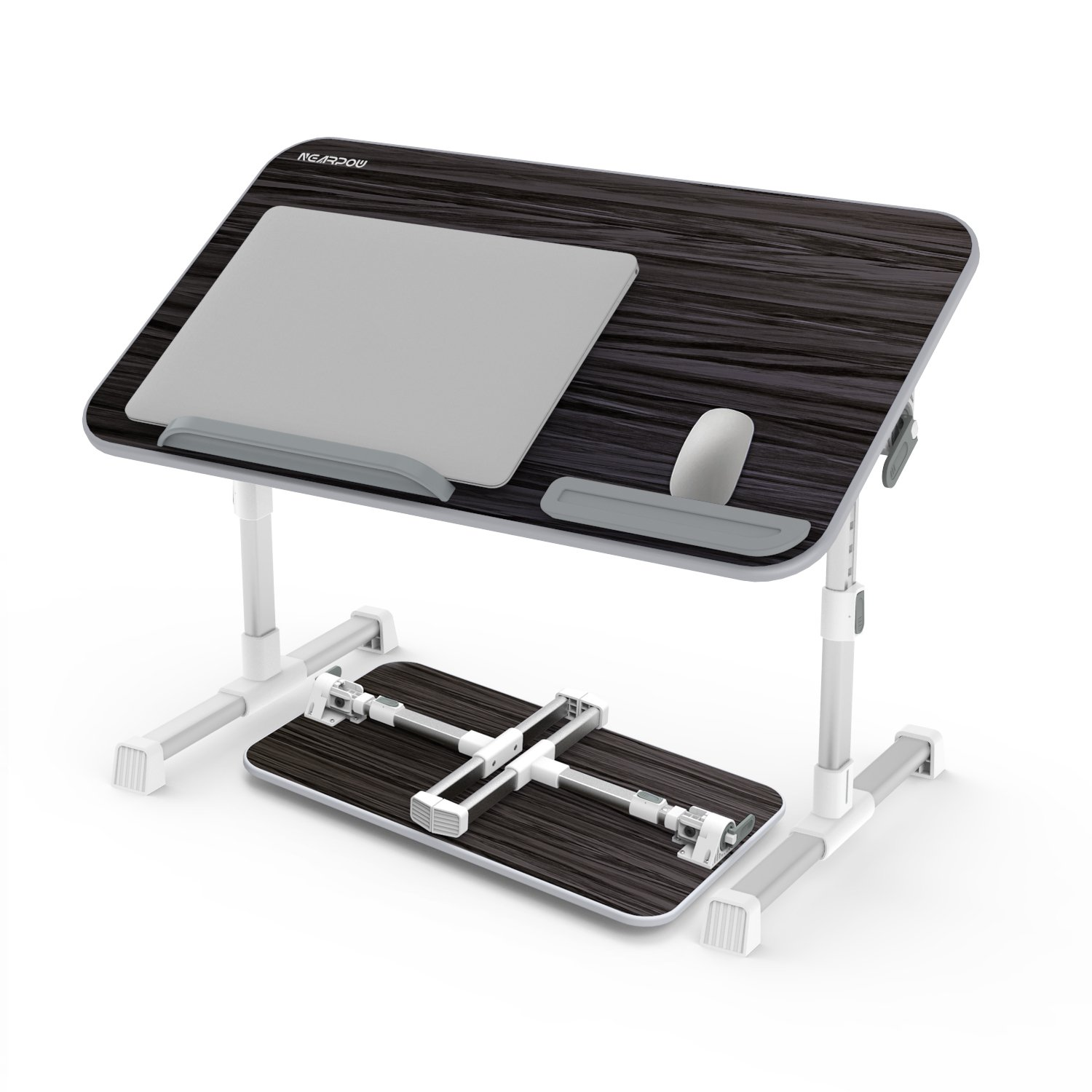 Amazon.com : Laptop Bed Tray Table, Nearpow Adjustable Laptop Bed Stand,  Portable Standing Table with Foldable Legs, Foldable Lap Tablet Table for  Sofa ...