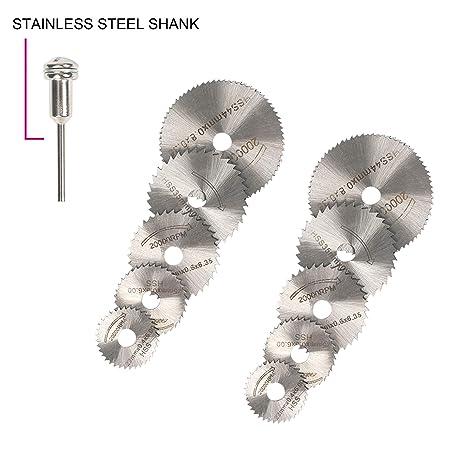 Amazon.com: 11 piezas HSS hoja de sierra circular, rueda de ...