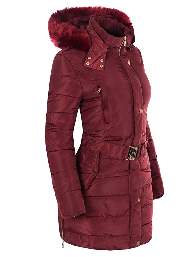 Diva Jeans N546 Marco&CO Damen Winter Mantel Jacke Steppjacke Parka Jacket Daunen Look Winterjacke