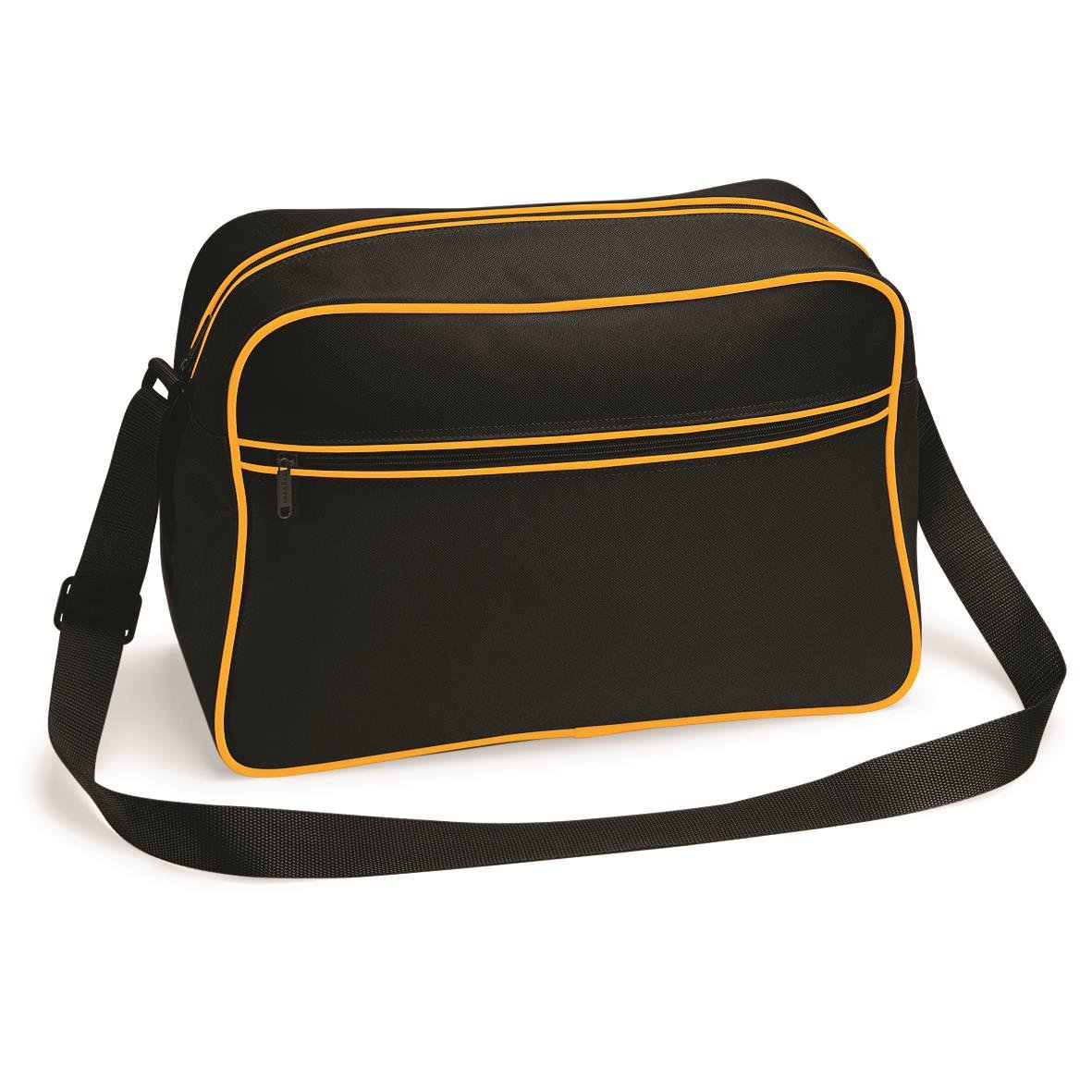 Black//Gold 15 Colours Available Large Retro Shoulder Bag by BagBase