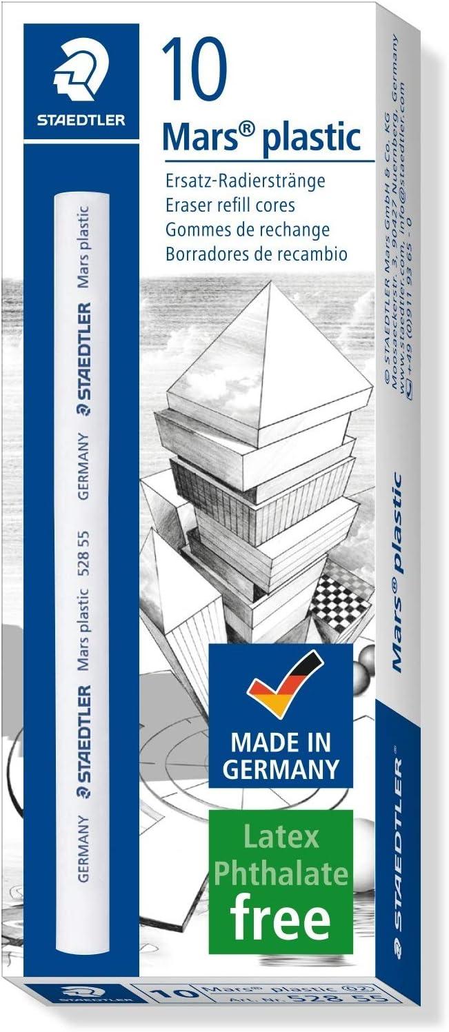 Staedtler 528 50 Mars Plastic Eraser Holder With 1 Pack 528 55 Eraser Refills