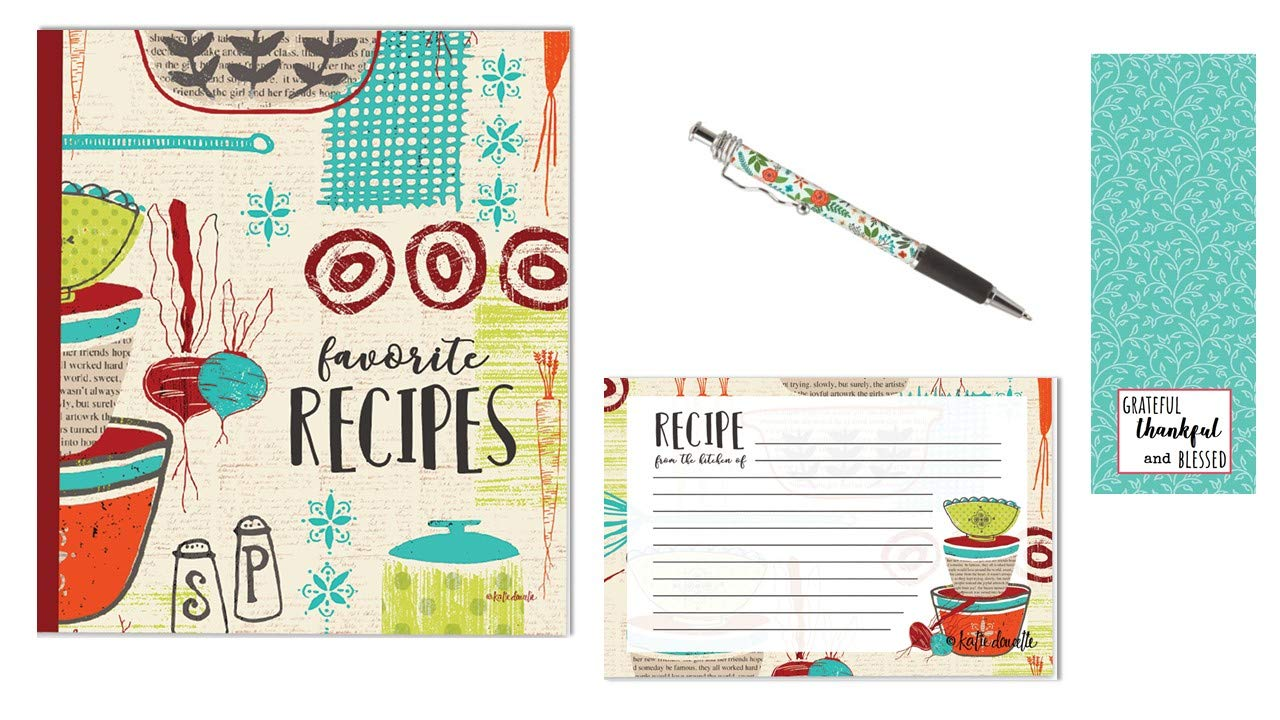 Recipe Binder Set with Recipe Cards (Made with Love) by Bailey & Browne