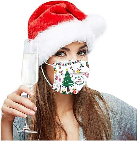 N A 50 St/ück Weihnachten Mundschutz Erwachsene Einweg 3 lagig Mund und Nasenschutz Unisex Waschbar Staubdicht Face Bandana Atmungsaktive Multifunktional Halstuch Schlauchtuch