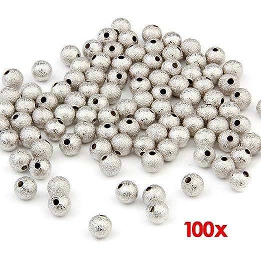28 opinioni per fitTek® 100 Perline Perle Sfere smerigliato 6mm per BIGIOTTERIA