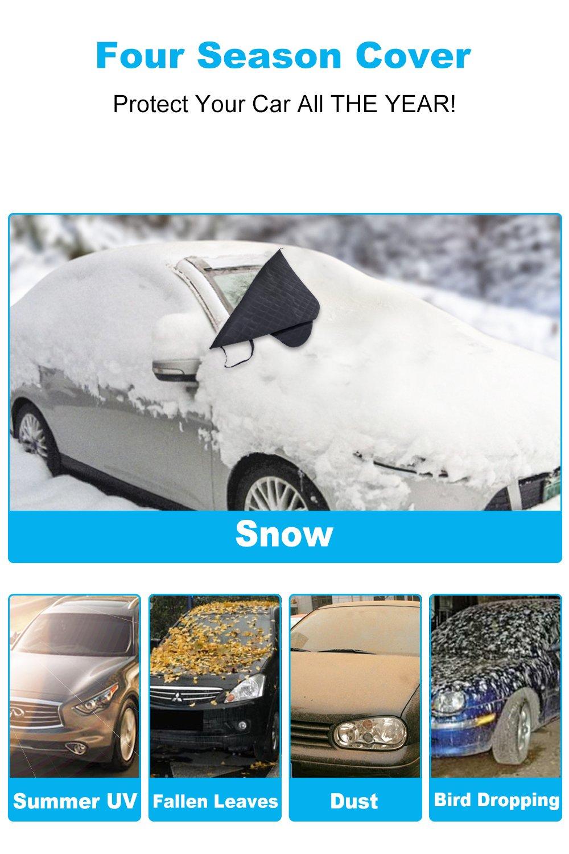 Coche Parabrisas anti escarcha nieve hielo ANTI polvo viento a prueba de agua magnético parabrisas Parasol pantalla Protector de escudo con solapas y ...