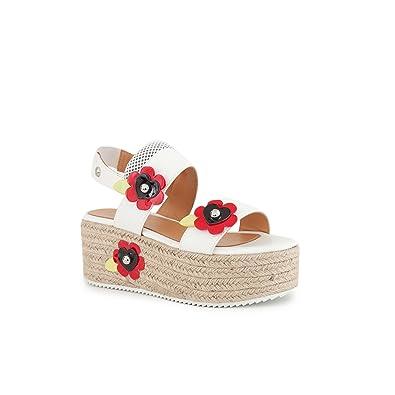 Sandales Printemps Moschino Love Chaussures Compensées Femme Blanc A5j4RL