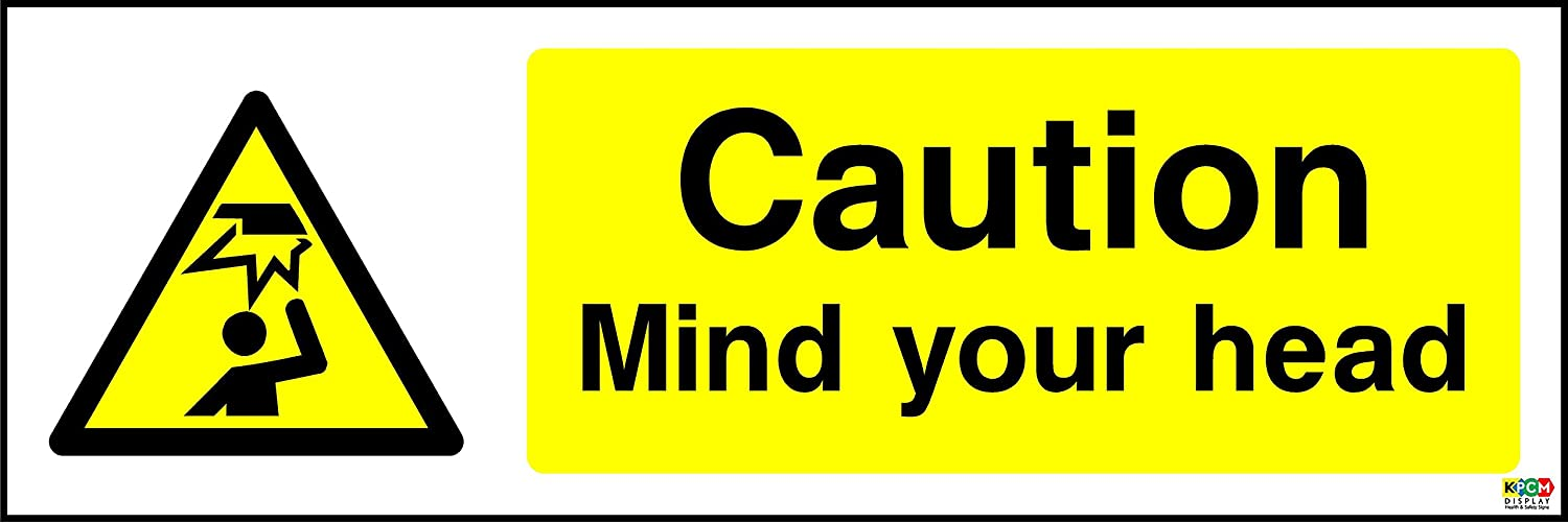 20cmx6.6cm Mind Your Head sign Self Adhesive Sticker Label Sign