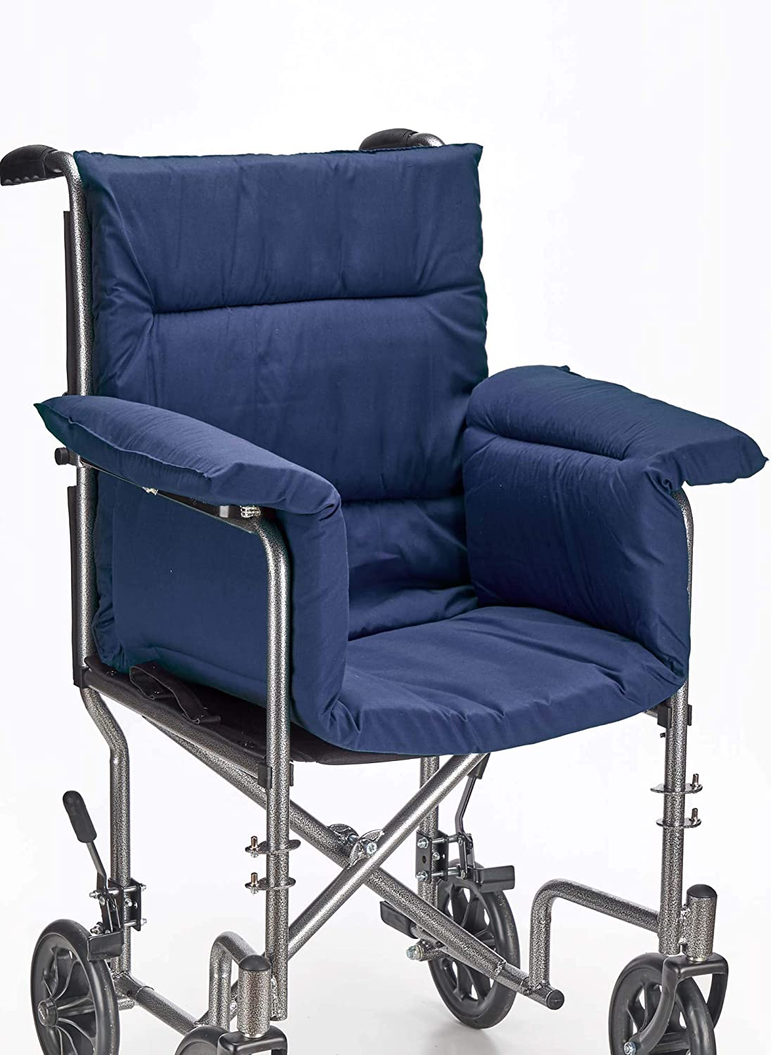 AmeriMark Chair Cushion Pad Seat Cover for Wheelchair, Transport Chair or Electric Scooter Navy One Size