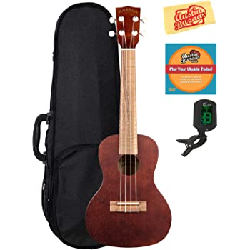 kala mk c makala concert ukulele bundle with hard case tuner austin bazaar. Black Bedroom Furniture Sets. Home Design Ideas
