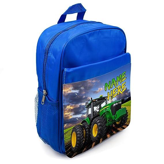 Boys Backpack Tractor School Bag Rucksack Personalised Farm ST176