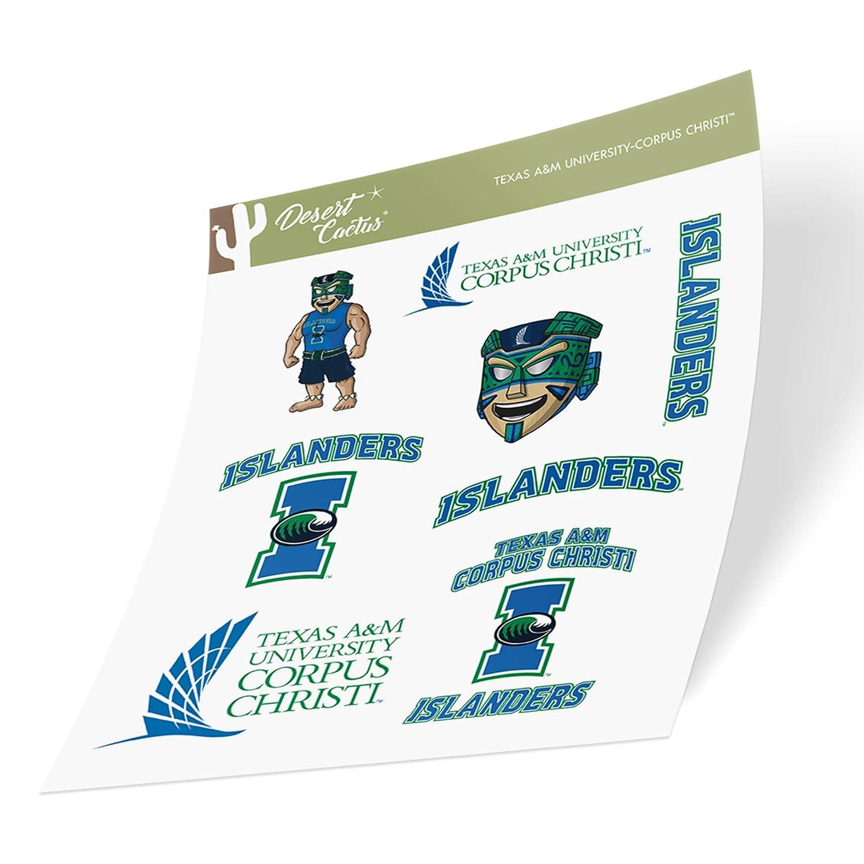 Texas A/&M University Corpus Christi TAMUCC Islanders NCAA Sticker Vinyl Decal Laptop Water Bottle Car Scrapbook Full Sheet