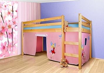 Vorhang Set Etagenbett : Vorhangset princess bettgardine tlg hochbett spielbett