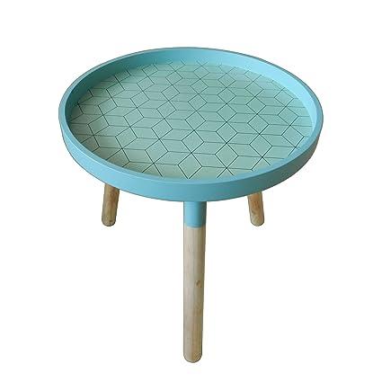 CVHOMEDECO. Élégant KD Table basse ronde en bois amovible rond ...