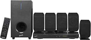 SuperSonic - 5.1 Channel DVD Home Theater System with USB Input & Karaoke Function, Home Theater Systems - Black (SC-38HT) (Renewed)