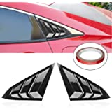 WINKA Rear Side Window Louvers, Sport Style Scoop Louvers Cover Blinds for Honda Civic Sedan 2020 2019 2018 2017 2016…