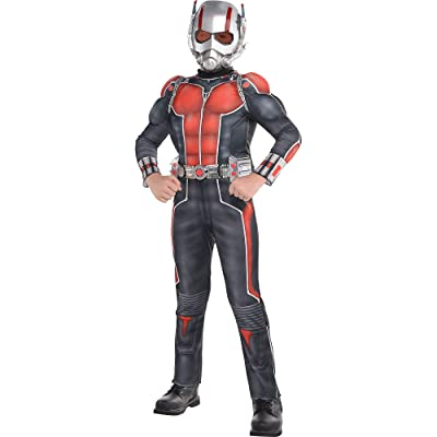 Official Marvel Ant-Man 2Pc Kids Medium Muscle Costume Includes Mask & Bodysuit: Clothing
