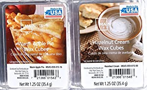 Mainstays Comforts of Home Themed Wax Cubes Bundle - Warm Apple Pie and Hazelnut Cream