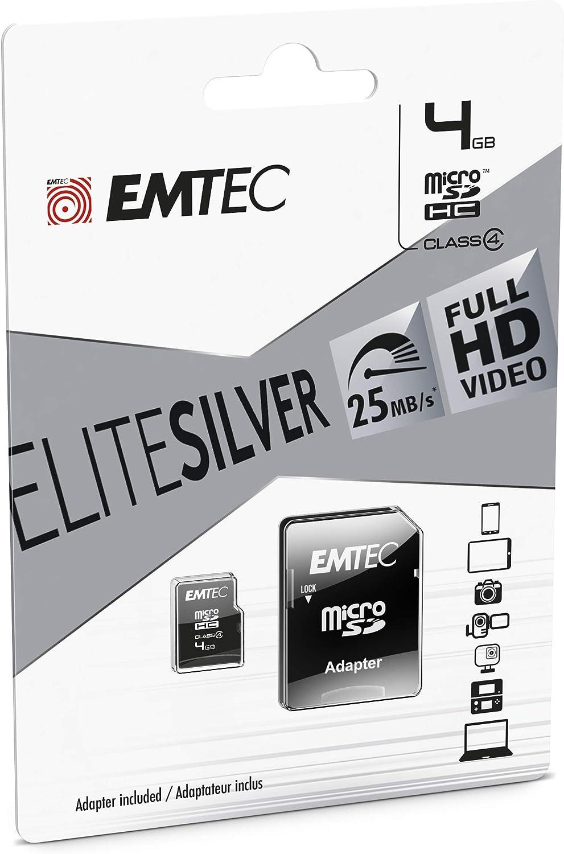 Emtec Ecmsdm4ghc4 Class 4 Microsdhc 4gb Speicherkarte Computer Zubehör