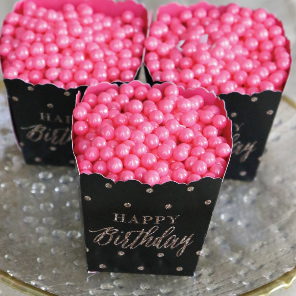 Amazon.com: Chic Happy Birthday - Pink, Black and Gold - Party Mini ...