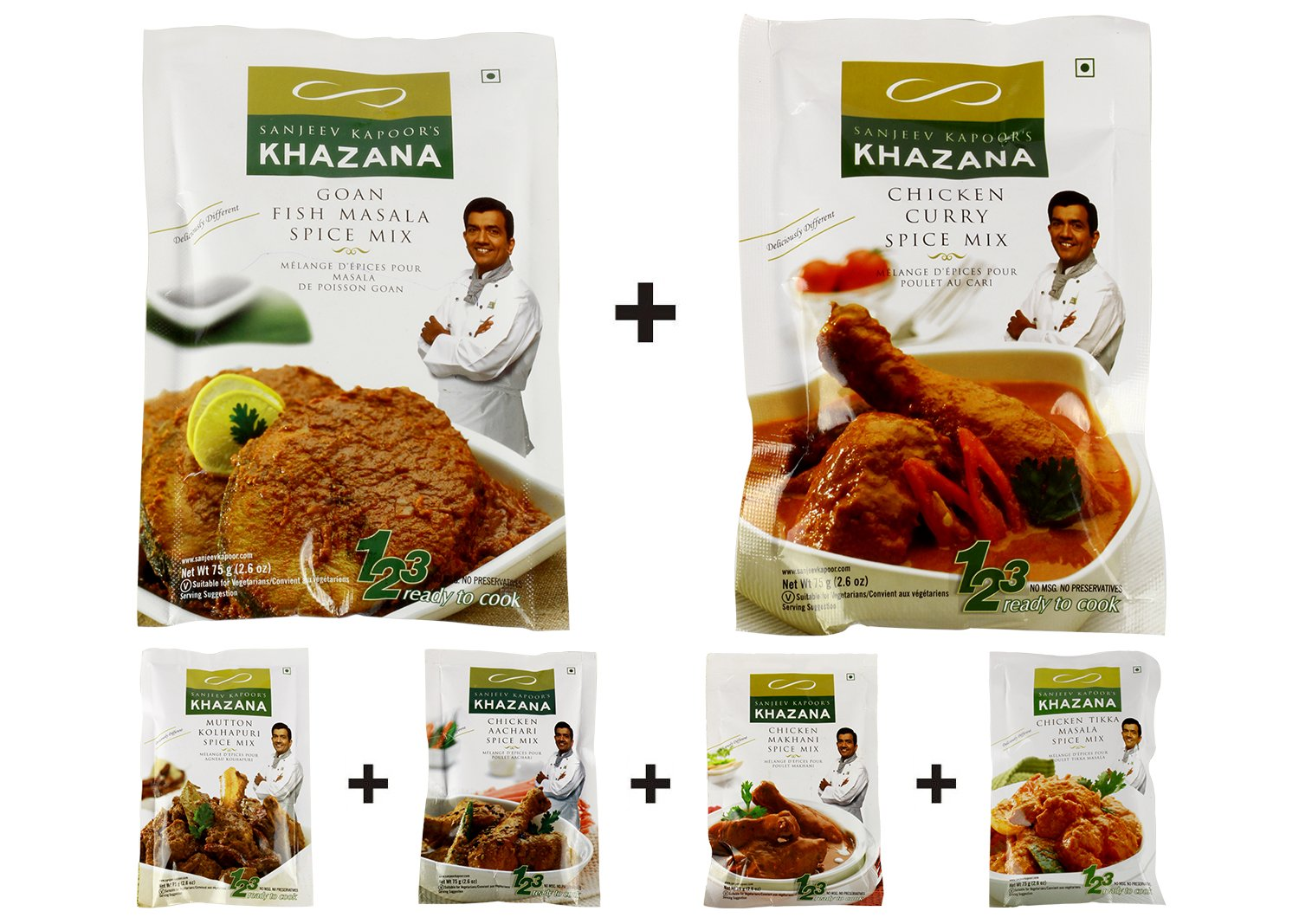 Chef Sanjeev Kapoor Khana Khazana Rtc Non Veg Pack Of 6 Amazon In Grocery Gourmet Foods