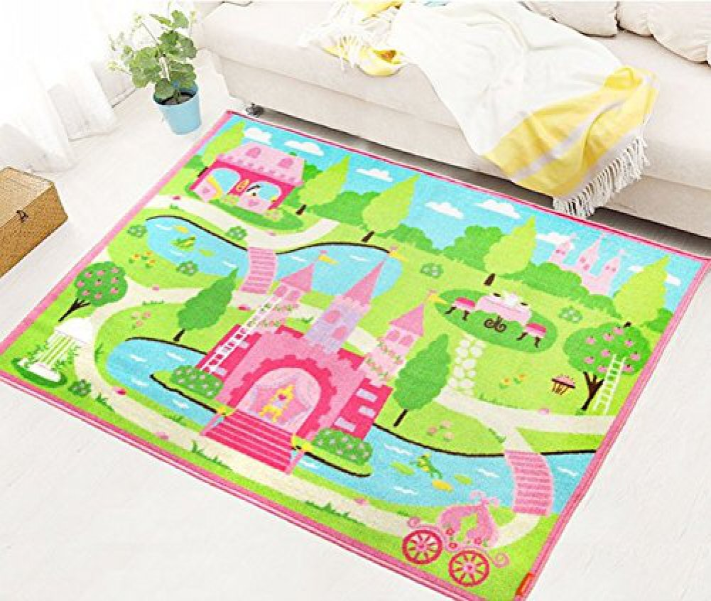 Amazon.com: LELVA Cartoon Castle Girls Bedroom Rugs,Delicate Little Flowers  Bedroom Floor Rugs,Cute Colorful Cartoon Kids Living Room Carpet: Toys U0026  Games