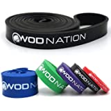 WOD Nation Pull Up Assistance Band - Best for Pullup Assist, Chin Ups, Resistance Bands Exercise, Stretch, Mobility Work & Se