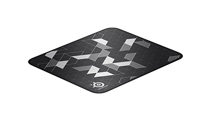 Steel Series Qc K+ Limited, Gaming Mouse Pad, 450mm X 400mm, Never Fray Stitching, Rubber Base, Laser & Optical Mouse Compatible   Black by Amazon