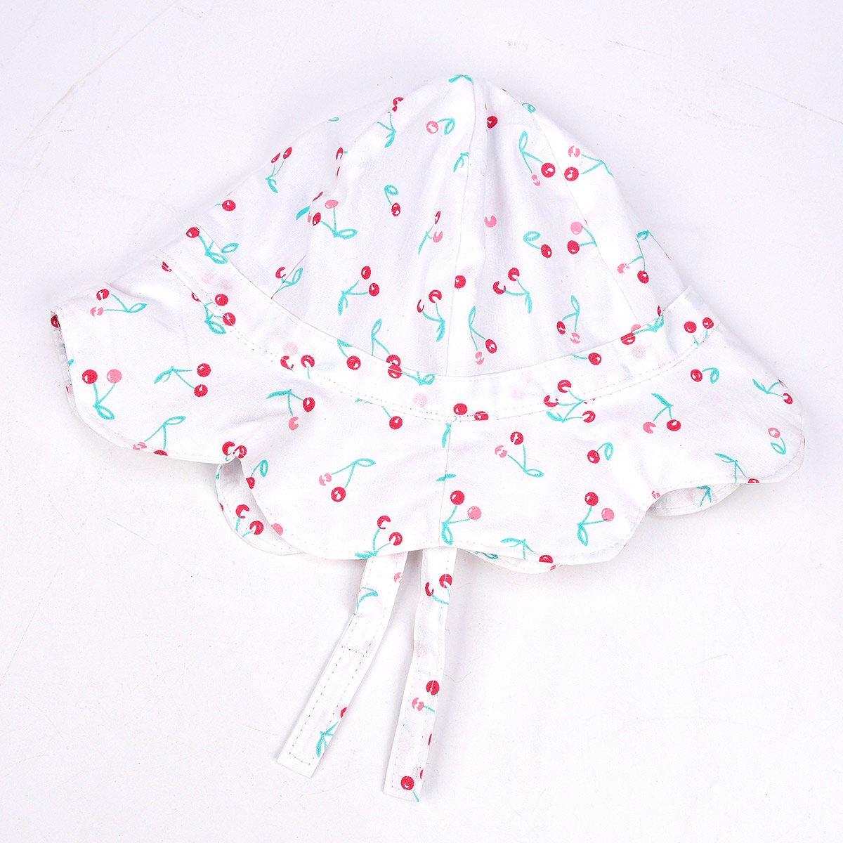 SOMALER Baby Girls Summer Sun Hat Toddler Kids Spring Lightweight Foldable Cotton Cap by SOMALER (Image #6)