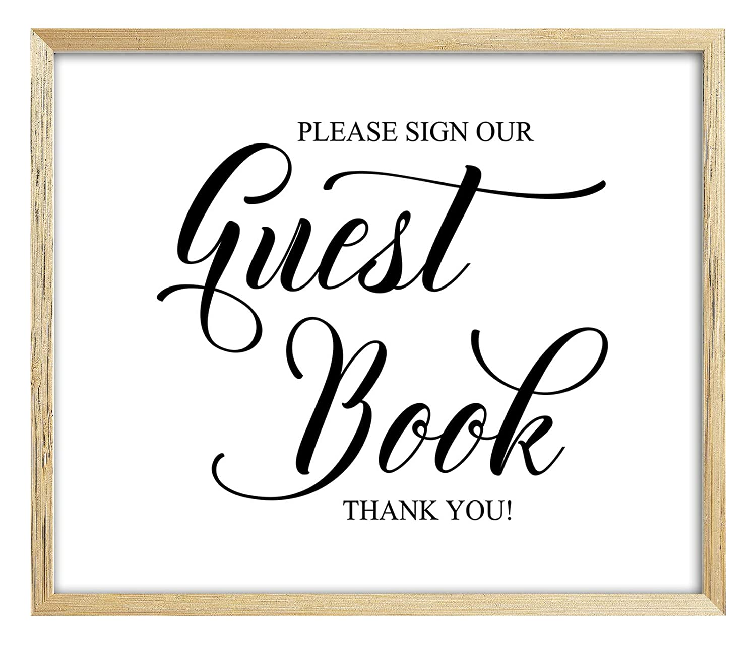 Please Sign Our Guest Book Sign Wedding Guestbook Sign Darling Souvenir DS-JSP26-5x7 Frame Not Included Party Print Reception D/écor