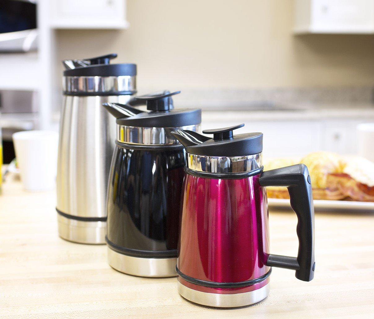 French Press Tabletop Coffee and Tea Maker with Bru Stop Technology - 48 oz - Stainless Steel - Obsidian Black by Planetary Design