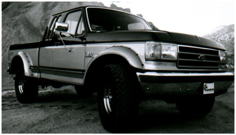 Amazon com bushwacker 20018 11 cut out fender flares 87 91 ford f 150 250 350 bronco rear automotive