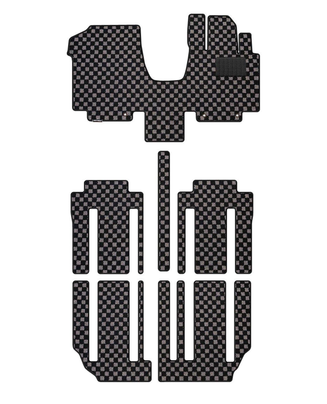 Hotfield 日産 セレナ C27系 (ガソリン車) フロアマット チェックグレー 【B:フロント一体:パーツ一体/ロングスライド(標準仕様)】 B01LGK18S0 【B:フロント一体:パーツ一体 / ロングスライド(標準仕様)】|チェックグレー チェックグレー 【B:フロント一体:パーツ一体 / ロングスライド(標準仕様)】