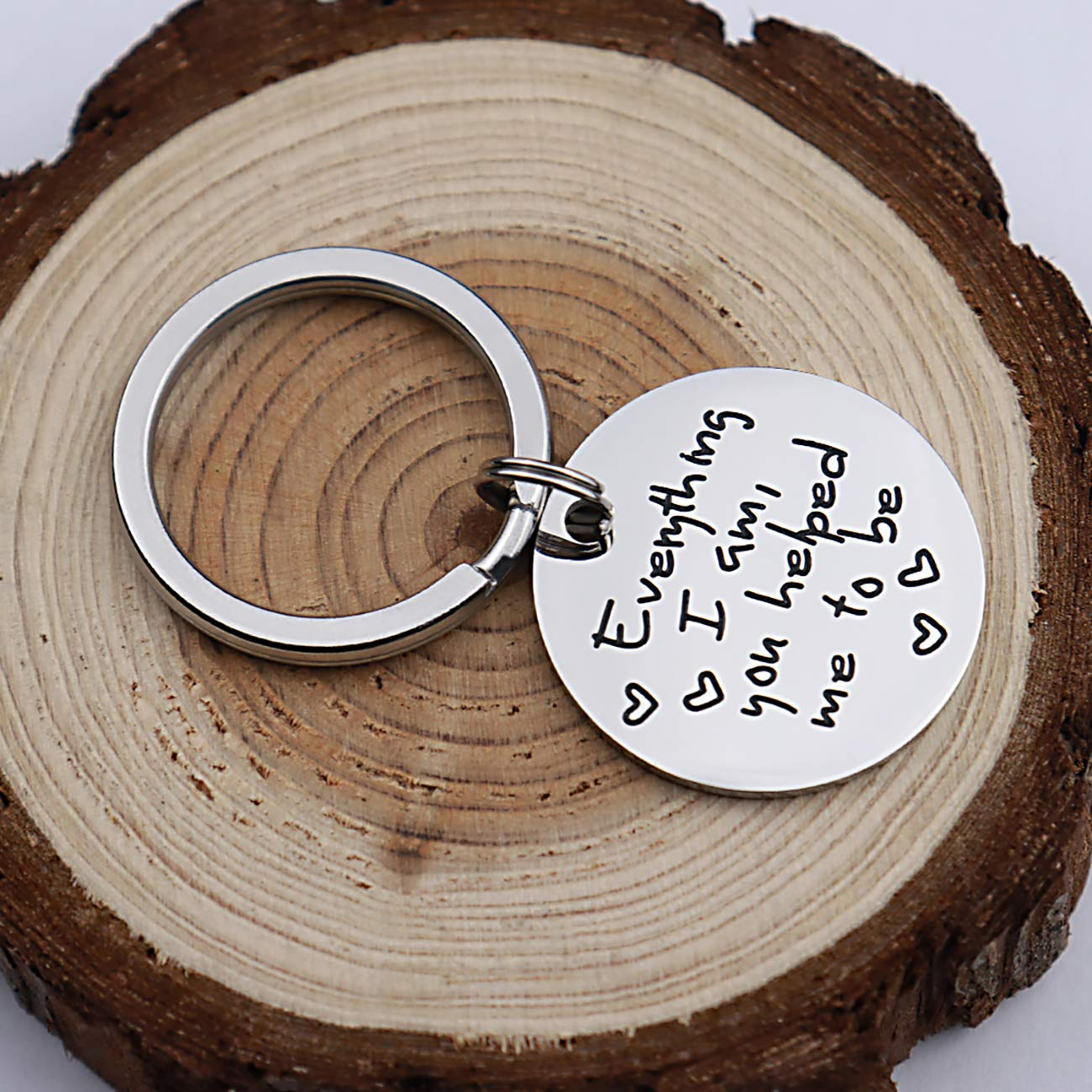 Dad Keyring Ill Always Be Your Little Girl Youll Always Be My Hero Birthday Gift Man Key Ring Key Rings for Men