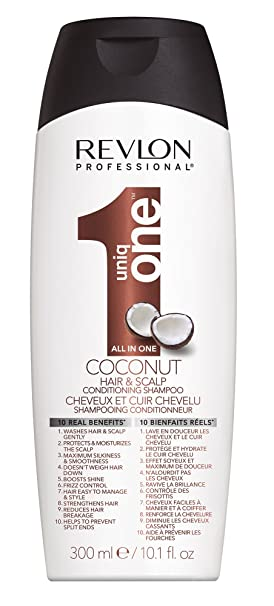 REVLON PROFESSIONAL Uniq One Coconut Shampoo Anti Frizz für Glänzendes Haar, 300 ml