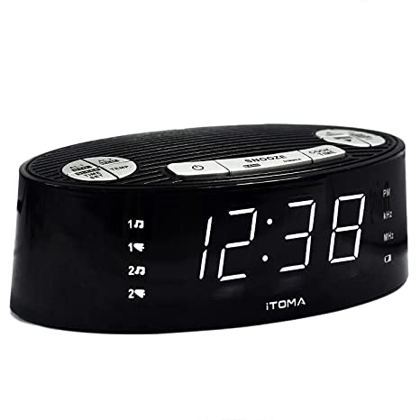 Amazon.com: itoma Reloj despertador con radio AM FM, alarma ...